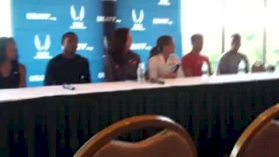 USA Outdoor Track & Field Championships Press Conference prerace