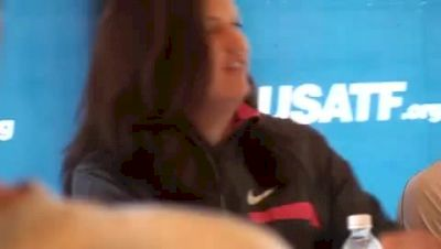 Stephanie Brown Trafton at USA Outdoor Championships Press Conference