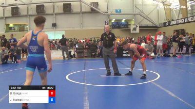 74 kg Quarterfinal - Brady Berge, Nittany Lion Wrestling Club vs Jaden Mattox, TMWC/Ohio RTC