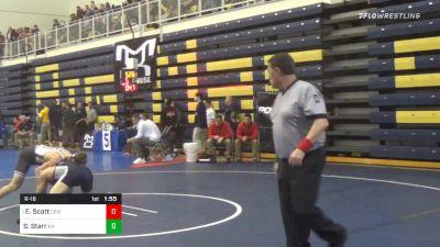 152 lbs Prelims - Ed Scott, Dubois vs Sammy Starr, Kiski Area