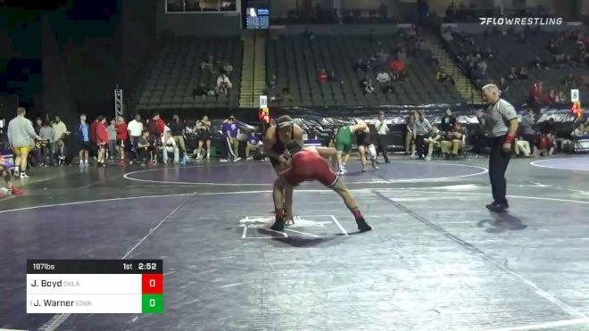197 lbs Prelims - Jake Boyd, Oklahoma vs Jacob Warner, Iowa