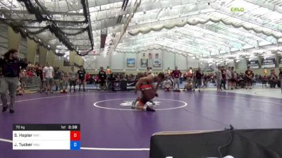 70 kg Consi Of 64 #1 - Samuel Hepler, Mat-Town USA vs Jake Tucker, Michigan State