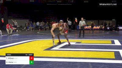141 lbs Prelims - Tariq Wilson, NC State vs Dusty Hone, Oklahoma State