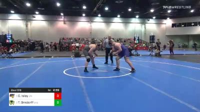 285 lbs Consolation - Carter Isley, Northern Iowa vs Tate Orndorff, Utah Valley