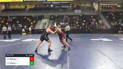 285 lbs 3rd Place - Kaleb Reeves, Coe College vs Dominick Wilson, Olivet College
