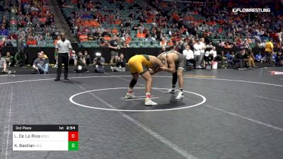 174 lbs 3rd Place - Lorenzo De La Riva, North Dakota State vs Kimball Bastian, Utah Valley