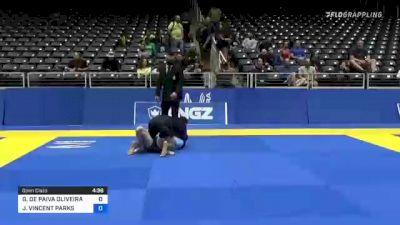 GUILHERME DE PAIVA OLIVEIRA vs JOSH VINCENT PARKS 2021 World IBJJF Jiu-Jitsu No-Gi Championship