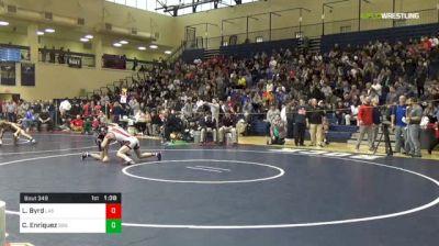 120 lbs Semifinal - Lucas Byrd, Cincinnati LaSalle vs Cameron Enriquez, Stroudsburg