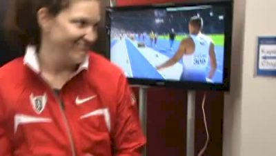 Stephanie Brown after the first round of the Discus 2009 IAAF Track World Championships.MPG