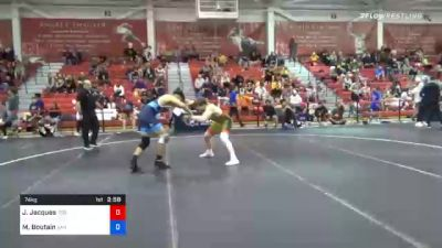74 kg Prelims - Jarrett Jacques, Tiger Style Wrestling Club vs Mason Boutain, San Francisco Wrestling Club