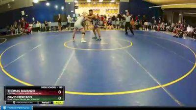 195 lbs Quarterfinal - Thomas DAvanzo, Central Florida Wrestling Acad vs David Mercado, Gulf Coast Grappling Academy