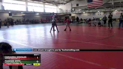 106 lbs Round 2 (4 Team) - Makenize Smith, Indiana INFERNO GOLD vs Cassandra Gonzales, Youtube Wrestlers