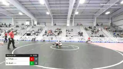 132 lbs Prelims - JORDAN TITUS, Team Kong United vs Mason Bush, Superior Wrestling Academy