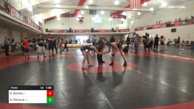 120 lbs Final - Brandon Bowles, FL vs Gavin Richard, NH
