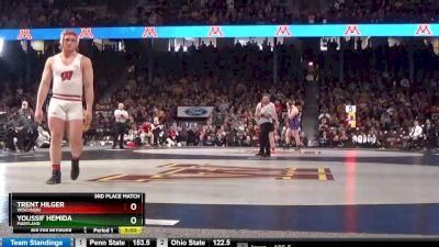 285 3rd, Trent Hilger, Wisconsin vs Youssif Hemida, Maryland