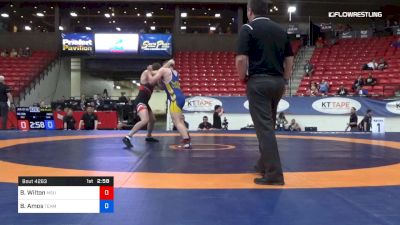 97 kg 3rd Place - Brad Wilton, Michigan State vs Braxton Amos, Team Miron