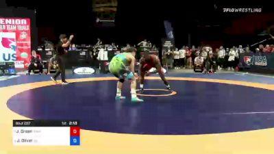 70 kg Semis - James Green, Titan Mercury Wrestling Club vs Jordan Oliver, Sunkist Kids Wrestling Club