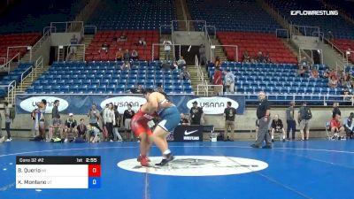 285 lbs Cons 32 #2 - Blake Querio, Michigan vs Kaden Montano, Utah