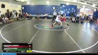 136 lbs Round 2 - Jonathan Moreno, Gladiator vs Parker Richards, Bronco Elite