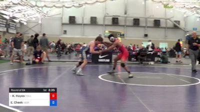 70 kg Round Of 64 - Ke-Shawn Hayes, Ohio State-Unattached vs Evan Cheek, NEORTC