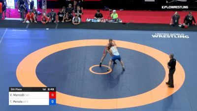 86 kg 5th Place - Victor Marcelli, Cavalier Wrestling Club vs Thomas Penola, Boilermaker RTC