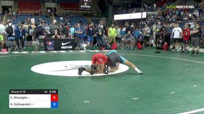 120 lbs Round Of 16 - Kyle Biscoglia, Iowa vs Rhett Golowenski, Oklahoma