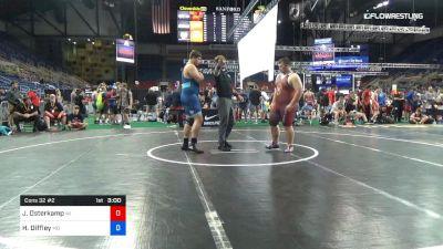 285 lbs Cons 32 #2 - Jerrod Osterkamp, Wisconsin vs Harrison Diffley, Missouri