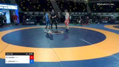 72 kg Semifinal - Michael Hooker, Army (WCAP) vs Jamel Johnson, Marines