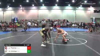 157 lbs Consolation - Justin Thomas, Oklahoma vs Kendall Coleman, Purdue