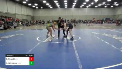 155 lbs Rr Rnd 2 - Bella Porcelli, Team Porcelli vs Shannon Workinger, Ascend Wrestling Academy