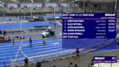 Youth Boys' 200m, Finals 4 - Age 11-12