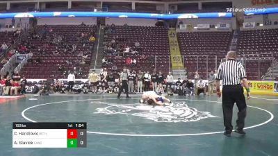 152 lbs Quarterfinal - Cole Handlovic, Bethlehem Catholic Hs vs Austin Slavick, Canon Mcmillan Hs