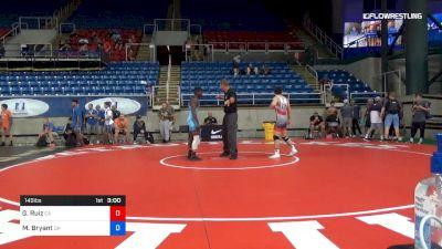 145 lbs Cons 32 #2 - George Ruiz, California vs Manzona Bryant, Ohio