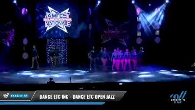 Dance Etc Inc - Dance Etc Open Jazz [2021 Open Jazz Day 2] 2021 JAMfest: Dance Super Nationals