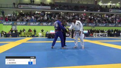 FERNANDO MATOS vs JOSHUA GUERRA 2019 European Jiu-Jitsu IBJJF Championship