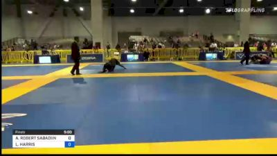 ANGELO ROBERT SABADIIN vs LUKE HARRIS 2021 American National IBJJF Jiu-Jitsu Championship