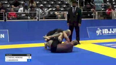 CHRISTOPHER RAFAEL MORENO vs VITALIY AKUDOVICH 2021 World IBJJF Jiu-Jitsu No-Gi Championship