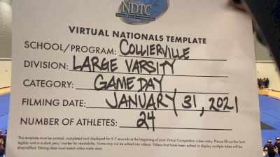 Collierville High School [Large Varsity - Game Day] 2021 UDA National Dance Team Championship