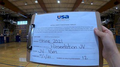 Presentation High School [Dance/Pom Junior Varsity] 2021 USA Spirit & Dance Virtual National Championships