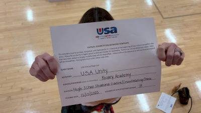Rosary Academy [High School – High School Situational Sideline/Crowdleading Cheer] 2020USA Virtual Regional