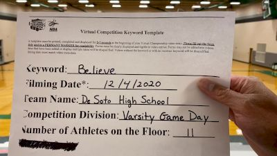 Desoto High School [Varsity - Game Day] 2020 NDA December Virtual Championship