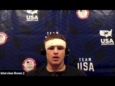 Braxton Amos (97 kg) after winning challenge tournament at 2021 Olympic Trials