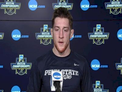Nick Lee (Penn State) after 141-pound semifinal win at 2021 NCAA Championships