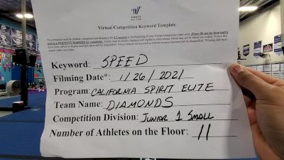 California Spirit Elite - Diamonds [L1 Junior - Non-Building] 2021 Varsity All Star Winter Virtual Competition Series: Event I
