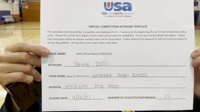 Westlake High School [Hip Hop Varsity - Medium] 2021 USA Spirit & Dance Virtual National Championships