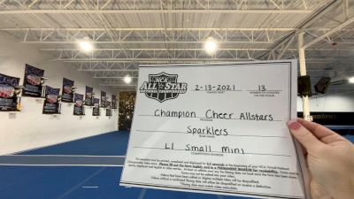 Champion Cheer - Sparklers [L1 Mini - Small] 2021 NCA All-Star Virtual National Championship
