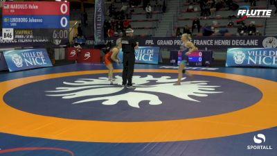 57 kg Semifinal - Helen Maroulis, USA vs Johanna Lindborg, Sweden