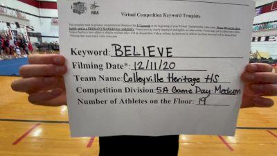 Colleyville Heritage High School [Game Day Medium Varsity] 2020 NCA December Virtual Championship