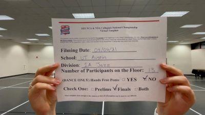 University of Texas Dance Team [Virtual Jazz Division IA Finals] 2021 NCA & NDA Collegiate Cheer & Dance Championship