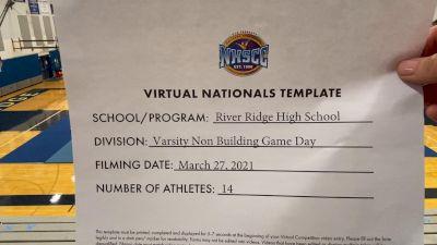 River Ridge High School [Varsity Non Building Game Day Virtual Finals] 2021 UCA National High School Cheerleading Championship